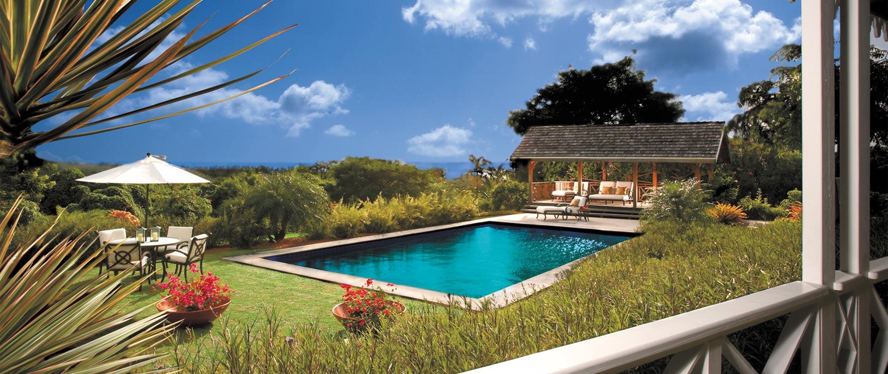 Back verandah facing pool.