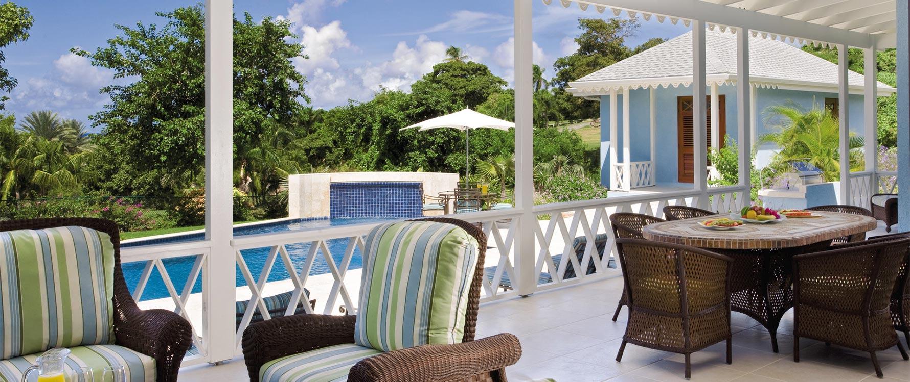 View from veranda / lounge area