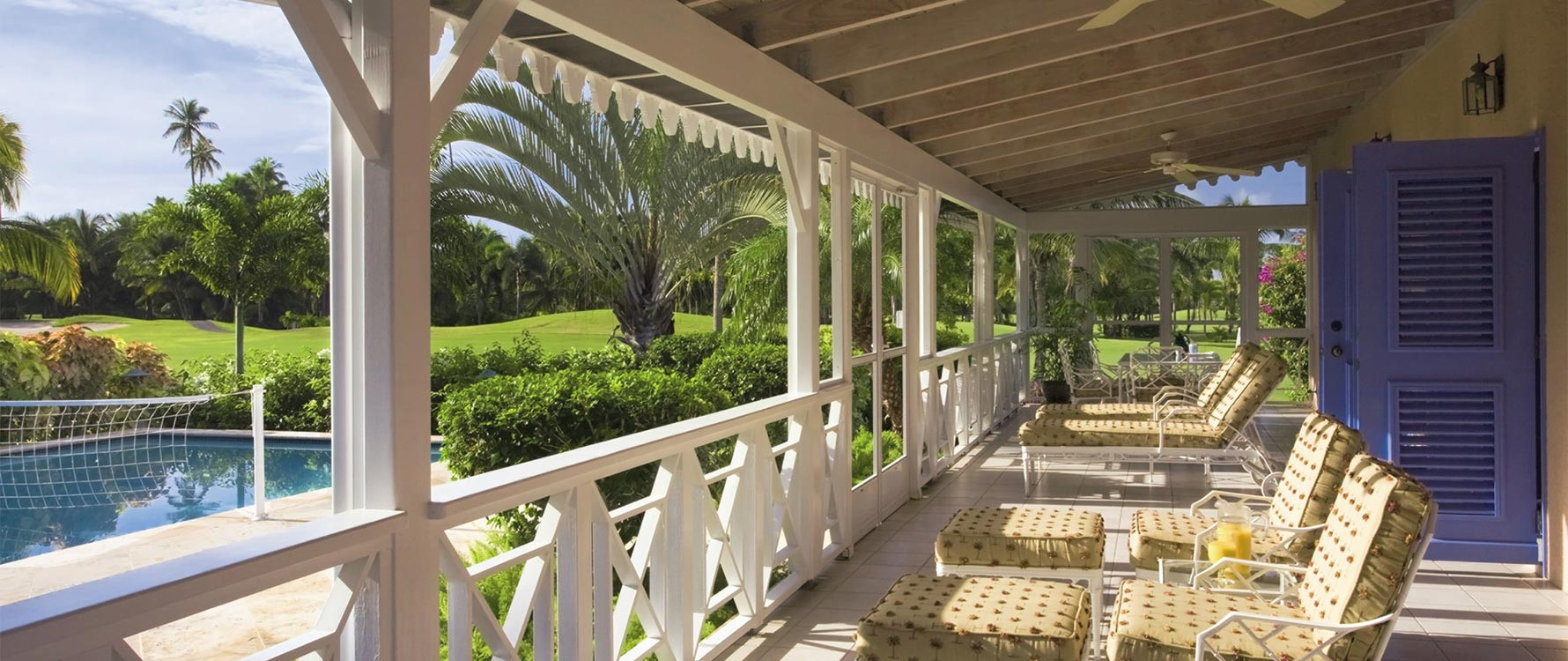 Screened veranda / lounge area